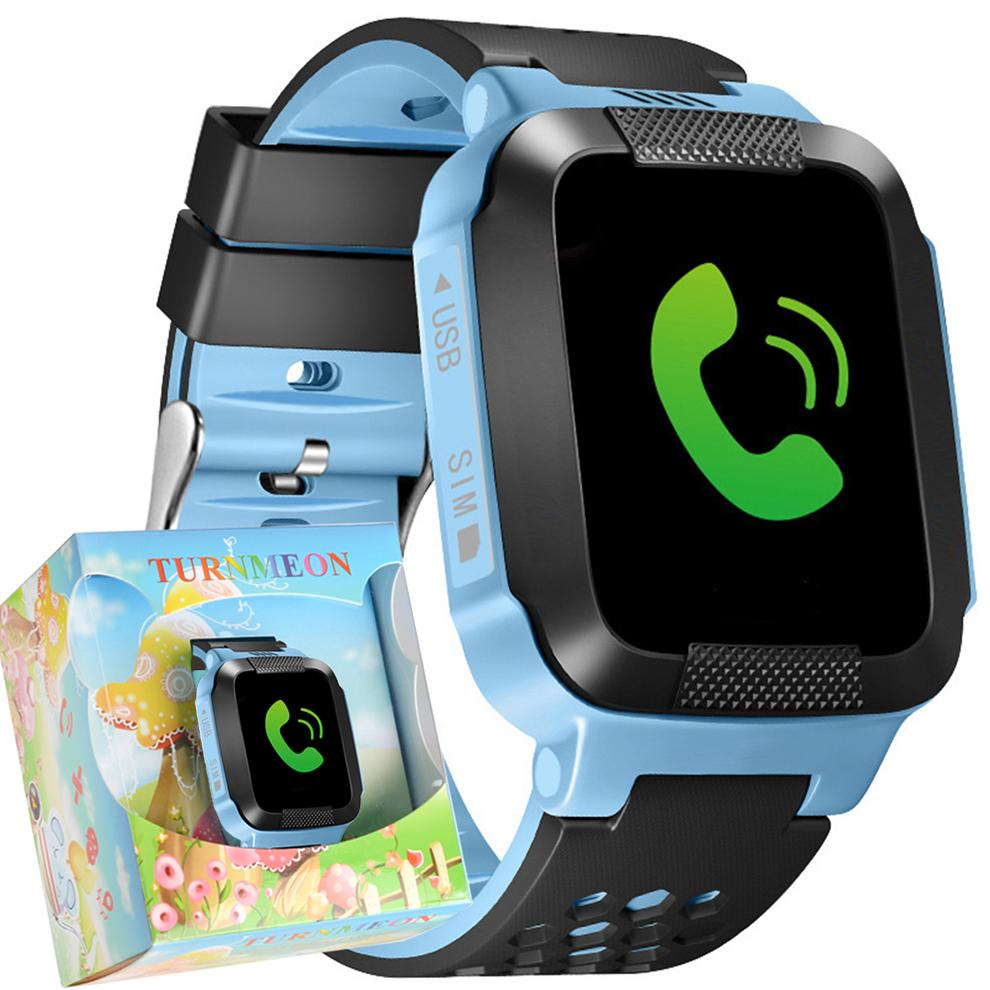 Wholesale- Smart Phone Watch Children Kid Wristwatch GSM GPRS GPS Locator Tracker Anti-Lost Touch Smartwatch Child Guard for iOS Android