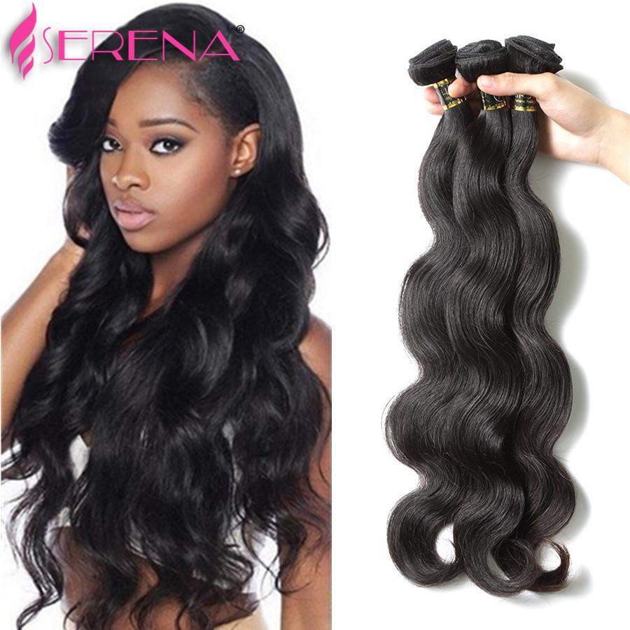 Grade 8A Königin Haar Produkte 3 Bundles Brasilianische Reine Haarkörperwelle 100% Brasilianische Menschenhaar-webart Bundles Kostenloser Versand UPS / DHL