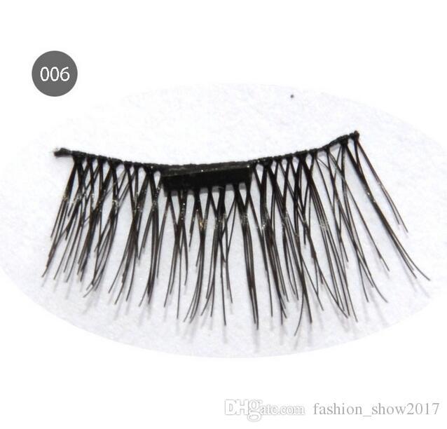 Magnet eyelashes Handmade Magnetic eyelashes Cross Thick False Eye Lashes Extension Makeup Super Natural Long False Eyelashes