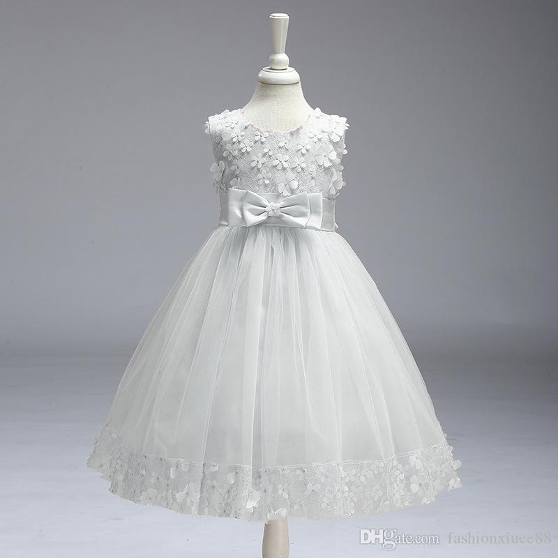 Cap Sleeves Cute Flower Girl Dresses para la boda 2018 Lace vintage con Coral Princess Zipper Up Kids Vestidos de comunión