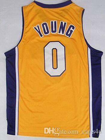 db0c3494dcb 2019 Hot Sale 14 Brandon Ingram Uniforms 0 Nick Young 1 D Angelo Russell  Jerseys Sport Shirt 30 Julius Randle Black Purple White Yellow From Caps4u