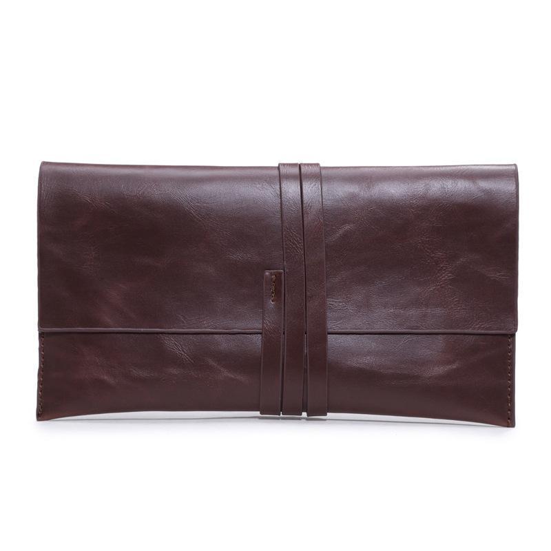 59ec75801a39 Fashion New Bolsas Women Clutch Bags Men Leather Handbag with Rope ...