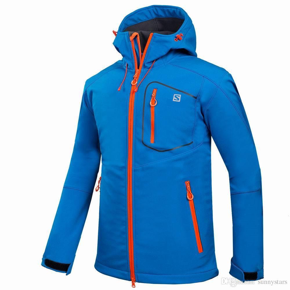 All'ingrosso-Outdoor Shell Jacket inverno di marca escursionismo Softshell Jacket Men impermeabile antivento termica l'escursione del campeggio