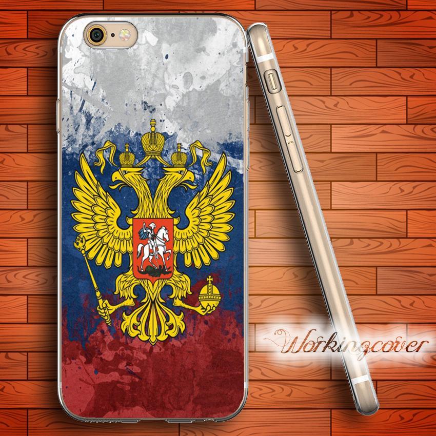 51e72013206 Carcasas De Movil Personalizadas Funda Fundas Vintage Rusia Bandera Soft  Clear Tpu Para Iphone 7 6 6s Plus 5s Se 5 5c 4s Funda De Silicona 4.
