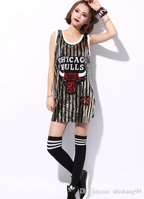 Girls Sexy Korean Style New Sequins Summer Fashion Casual ...
