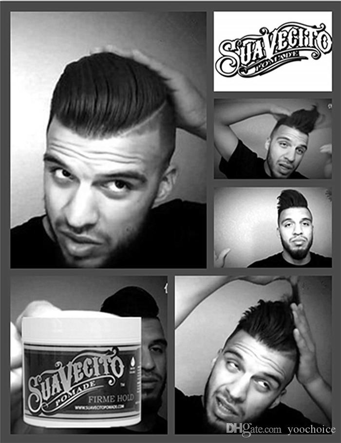 Suavecito Pomade Gel 113g Strong Style Restoring Pomade Hair Gel Firme Hold Big Skeleton Slicked Back Hair Oil Wax Mud