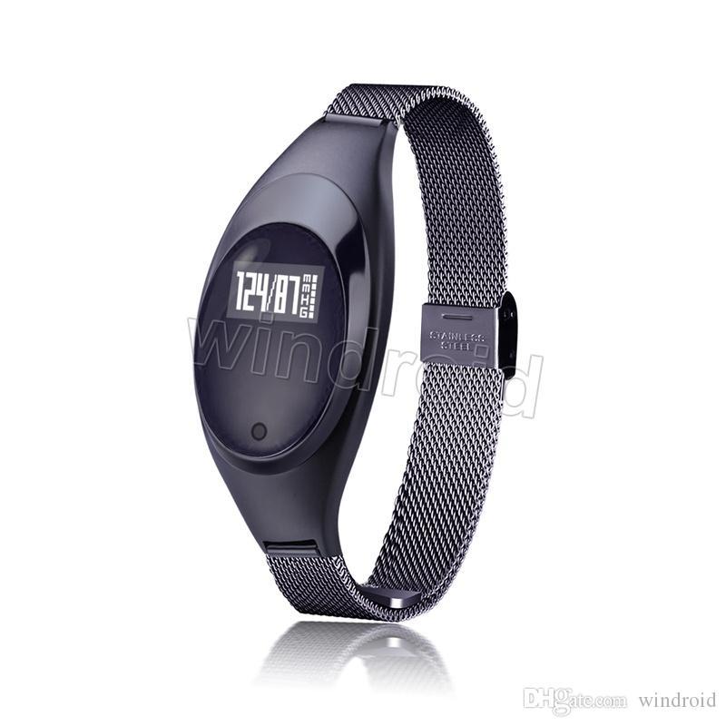 Brazalete Inteligente Brazalete Z18 Bluetooth Presión arterial de oxígeno monitor de ritmo cardíaco Pedómetro impermeable para los hombres de las mujeres Android iOS Libre DHL