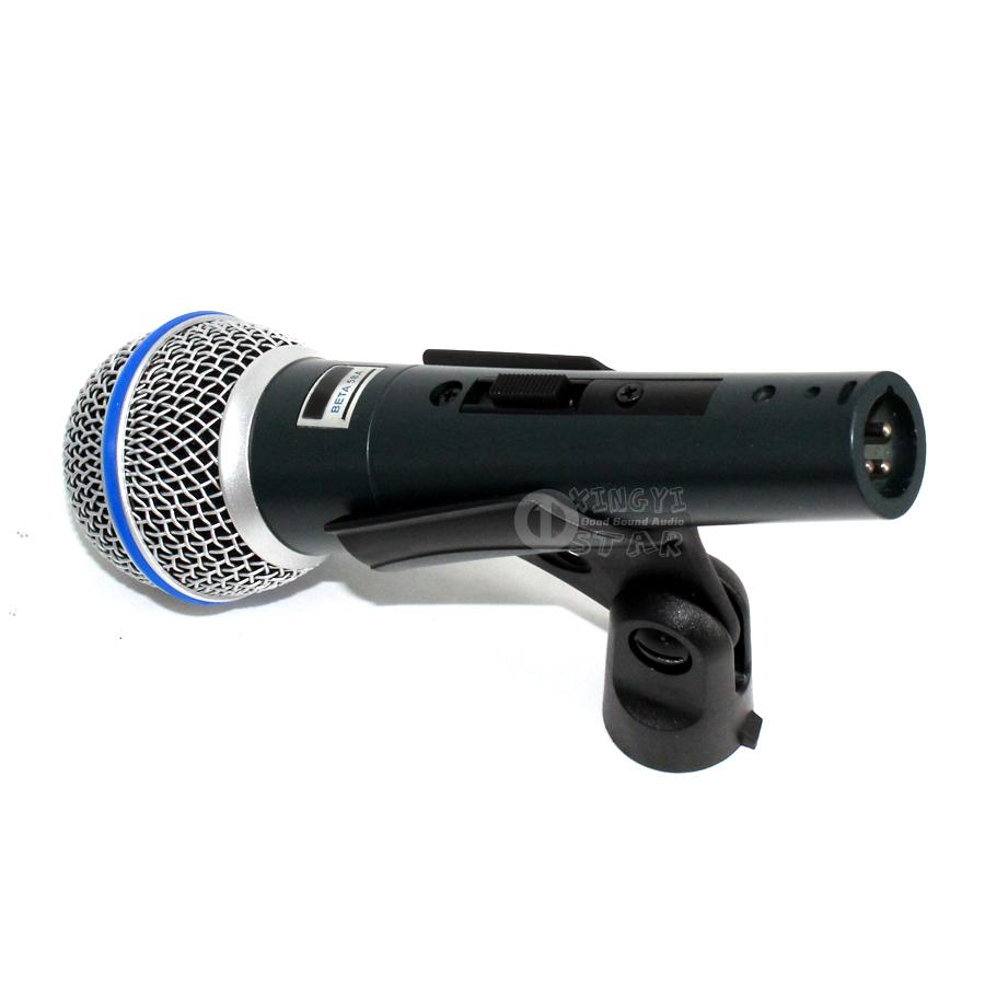 업그레이드 된 버전 BETA58A 스위치 유선 마이크 전문 Microfono Supercardioid Dynamic Karaoke Mic 보컬 Beta58 믹서 마이크 Microfone