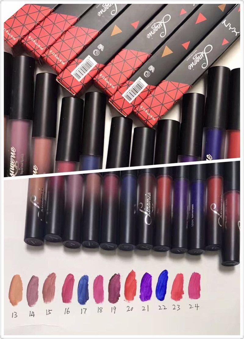NYX lip lingerie liquid Matte Lip Cream Lipstick NYX Charming Long-lasting Brand Makeup Lipsticks Lip Gloss