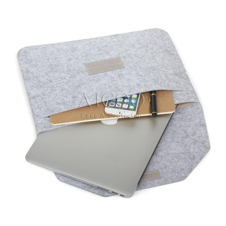 Laptop Bag Notebook Macbook 11.6 12 13.3 15.4 pulgadas Air Retina Felt Sleeve Maletín para Mac Pro Acer Asus Dell Lenovo HP Sansung