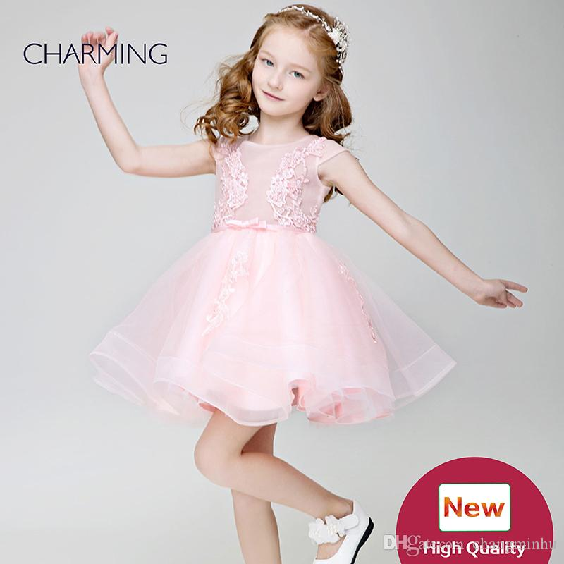 Little Girl Flower Girl Dresses Pink High Quality Designer Formal