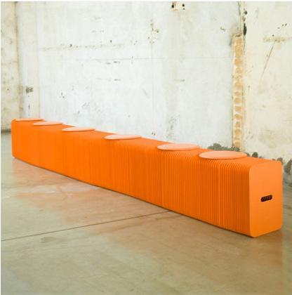 H42cm는 L300cm 혁신 가구 팝 X - 스마트 벤치 실내 유니버설 방수 아코디언 스타일 크래프트 휴대용 소파 6 개 좌석 71-1023 위해