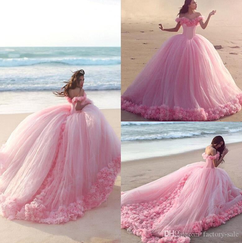 2017 New Baby Pink Sweet 16 Princess Quinceanera Dresses