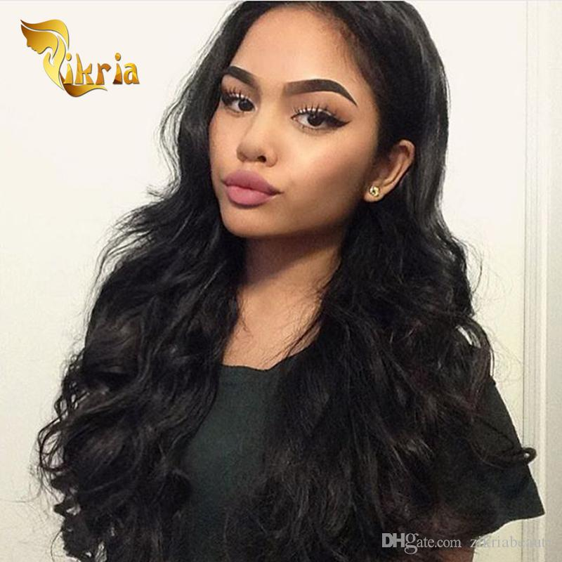 Brazilian Virgin Hair Indian Malaysian Peruvian Human Hair Wigs Comb Lace Front Wigs Loose Wave Human Hair Full Lace Wigs