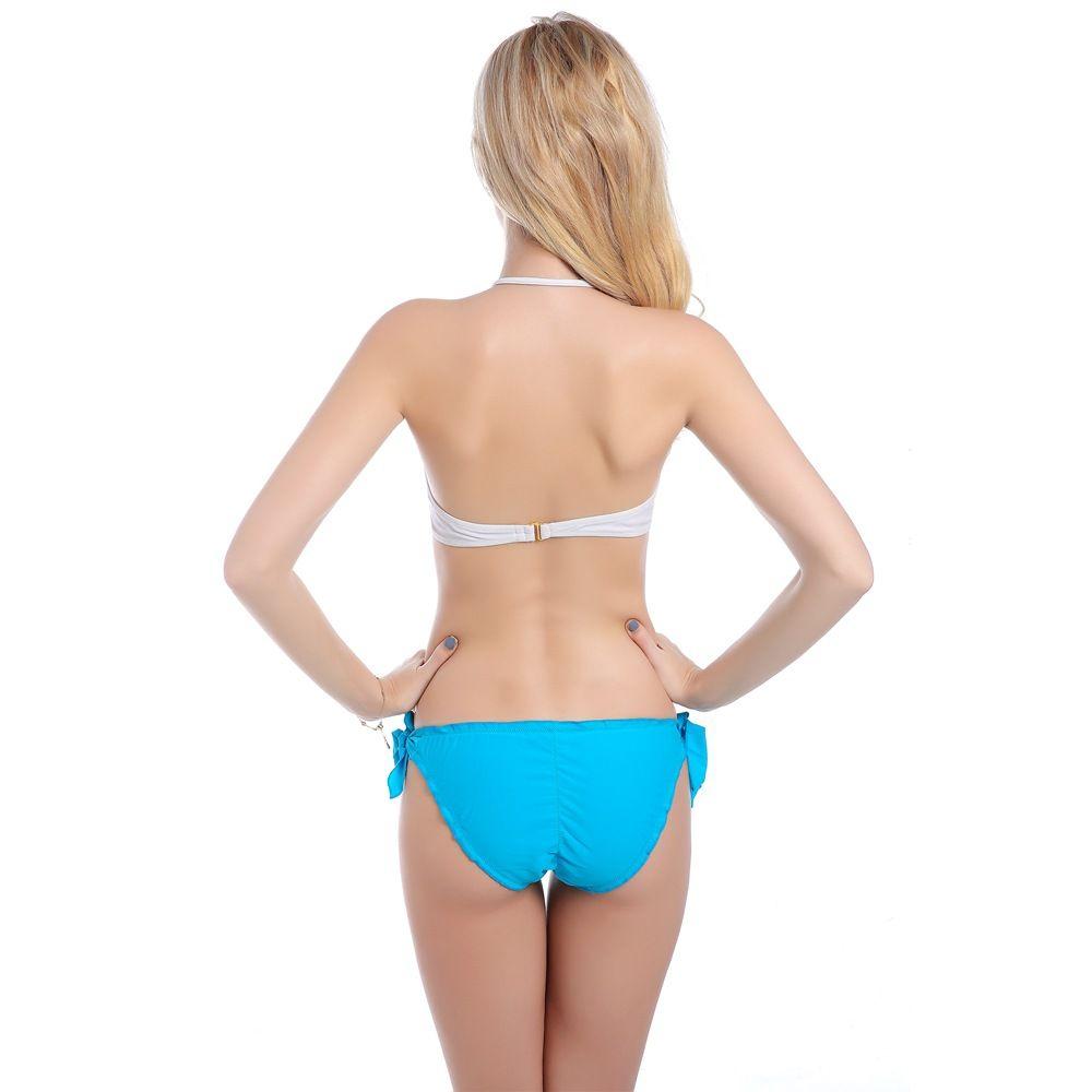 2018 neue Frauen reizvolle elastische zwei peice Badeanzug atmungsaktiv Badeanzug Bikini Set Beach Badeanzug tragen Biquini Strand Streifen Großhandel