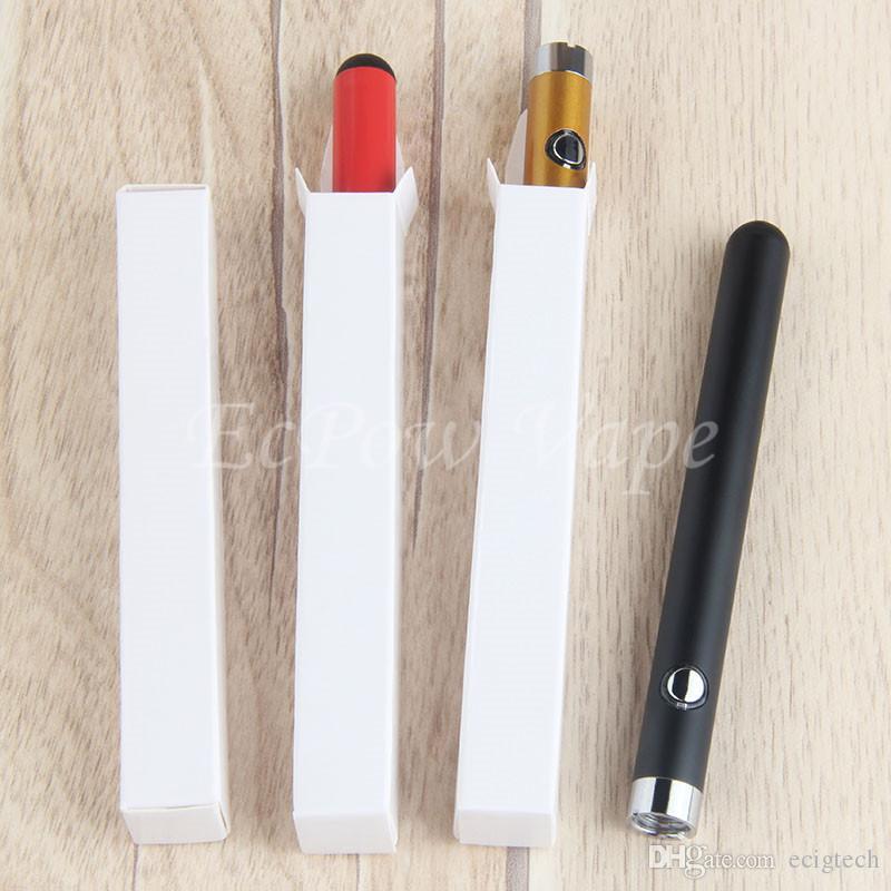 510 penna Vape penna touch CE3 batteria vaporizzatore O-pen penne sottili 280mah batterie Ecig venire con caricatore USB 510 cartucce di vapori