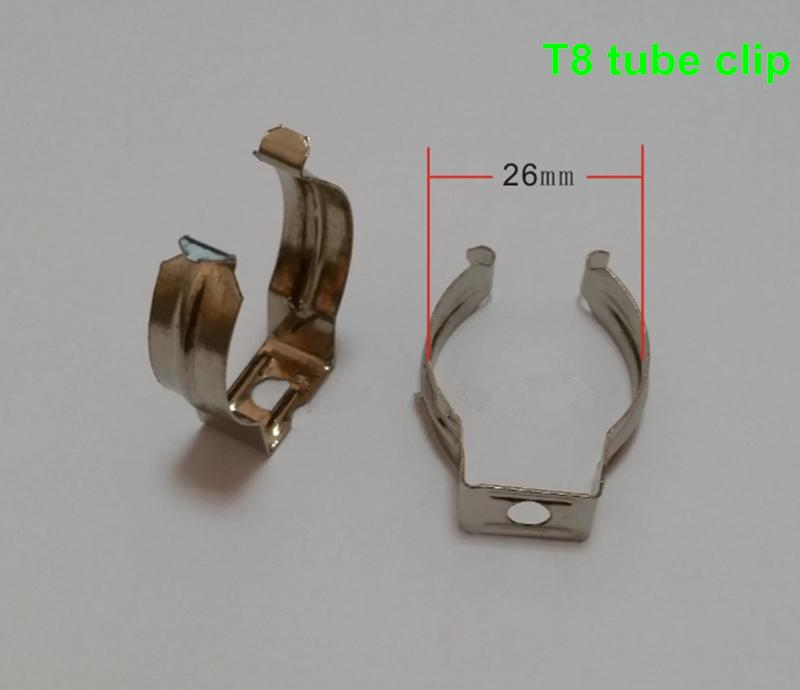 T5/T8/T4 lamp tube clamp ring pipe clamp support clip retaining clip spring buckle metal clip fluorescent card,DHL