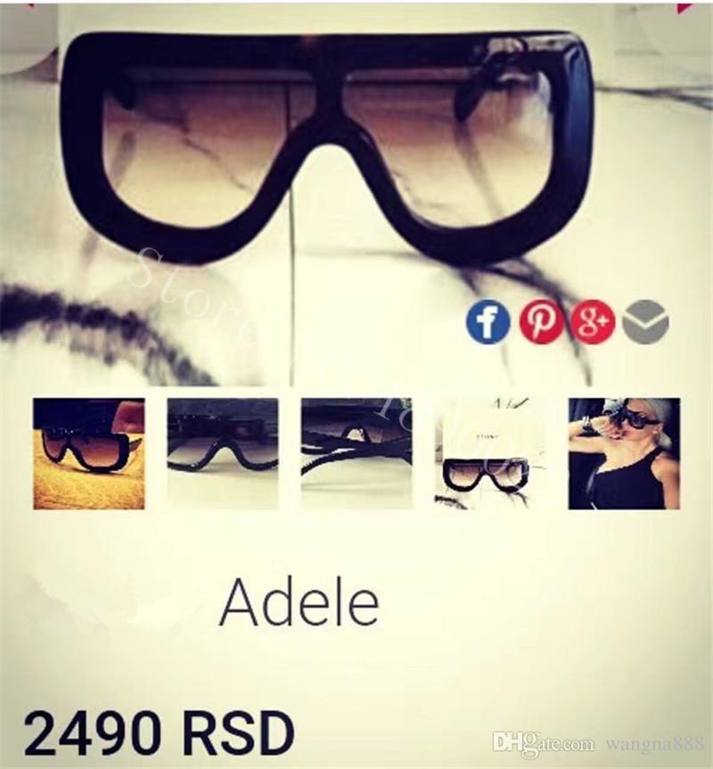 nuevas gafas de sol de marca de lujo de las mujeres gafas de sol CE41377 gafas de sol de audrey gafas de sol de diseño de abrigo modelo unisex marco grande de leopardo marco de doble color