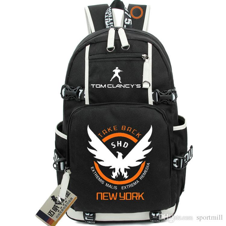 92afb02fc64 The Division Backpack Tom Clancy School Bag Take Back Daypack SHD ...
