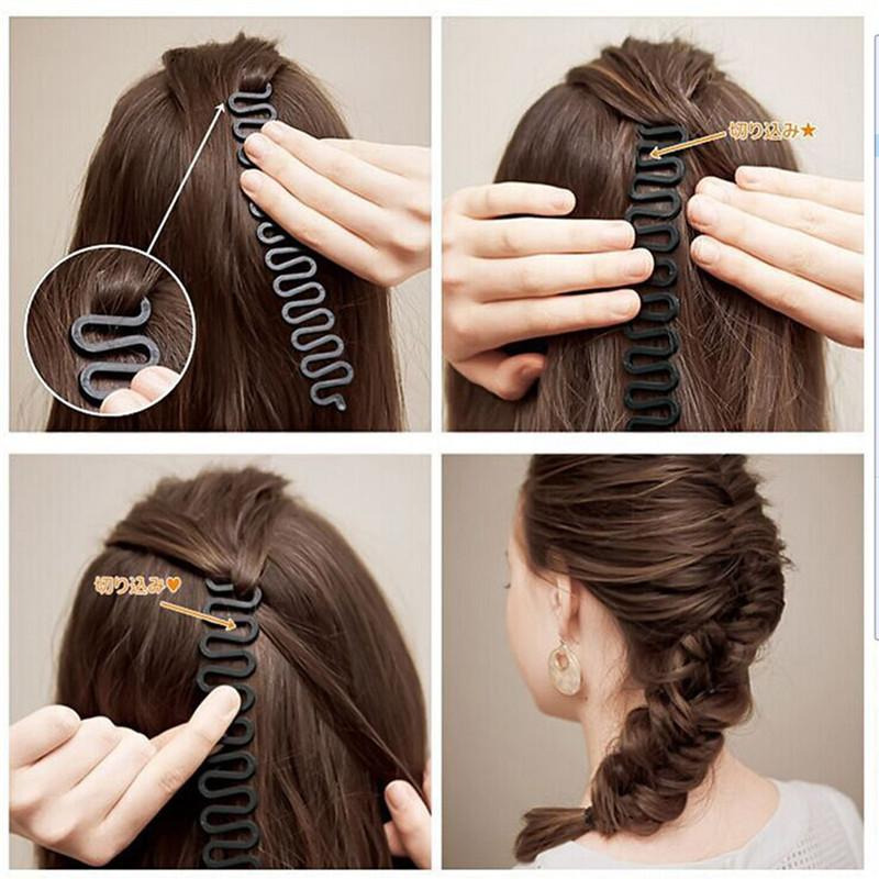 New Fashion Style French Hair Braiding Tool Braider Roller Hook With Magic Hair Braid Twist Styling Bun Maker Hair Band Accessories 0604113