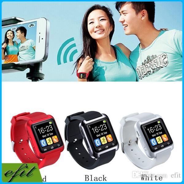 FREE DHL Bluetooth Smart Watch U80 U Watch WristWatch U8 For iPhone 5S 4 6  Plus Samsung S4 5 Note 4 3 2 Android Phone Smartphones