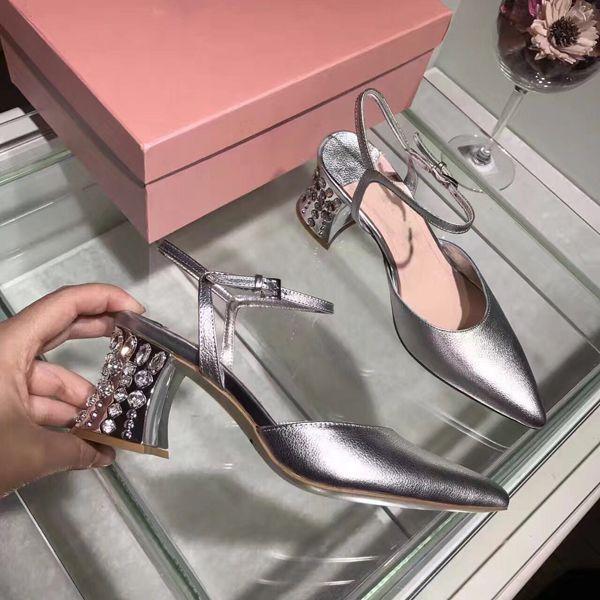 Kleid Hochzeit Slingback Pumps Damen Frauen Echtes Leder Spitz Silber Schuhe sQxdtrhCB