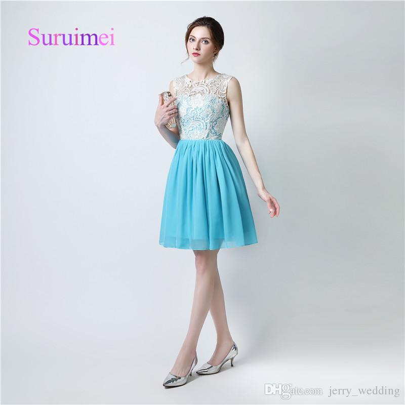 Elegant A Line Cocktail Dresses Short Gowns Mini Above Knee Scoop ...