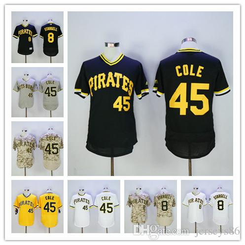 100% authentic 8e677 ccbea pittsburgh pirates 8 willie stargell black throwback jersey