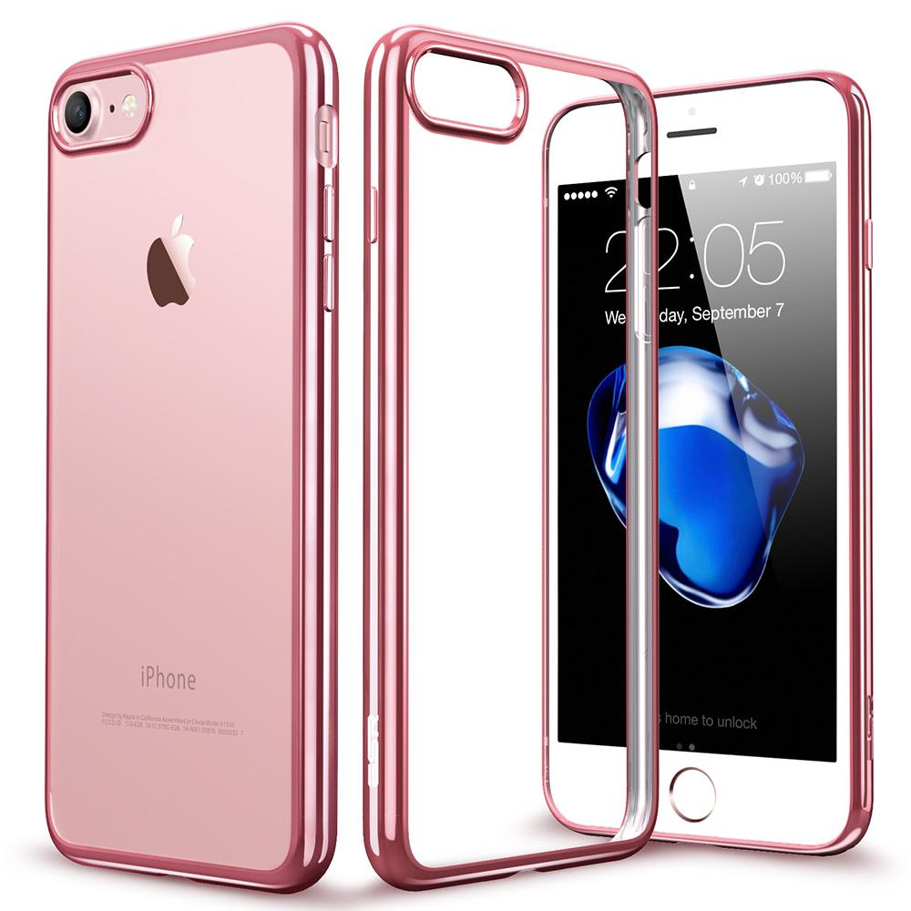 separation shoes 5f36b ee001 New Arrival Case for iPhone 8 7 / 7 Plus, ESR Clear Soft TPU Plating Frame  Bright Glossy Metal Coloring Bumper Back Cover for iPhone 8