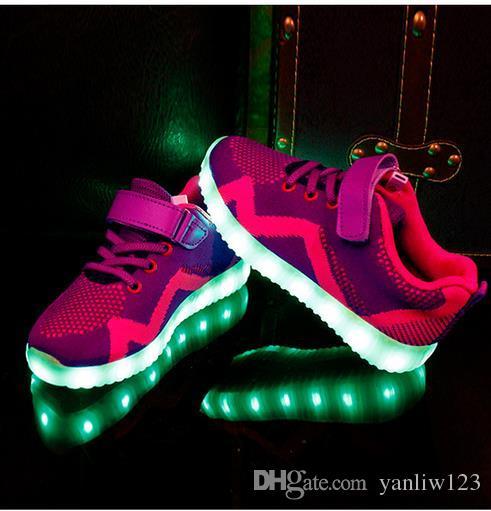Sport USB Schuhe Großhandel 15 Licht Led Kinder Jungen Lade Schuhe Auf Von Casual Led Schuhe Yanliw12326 Glowing Sneakers Mädchen Leuchtende CBoWQdexr