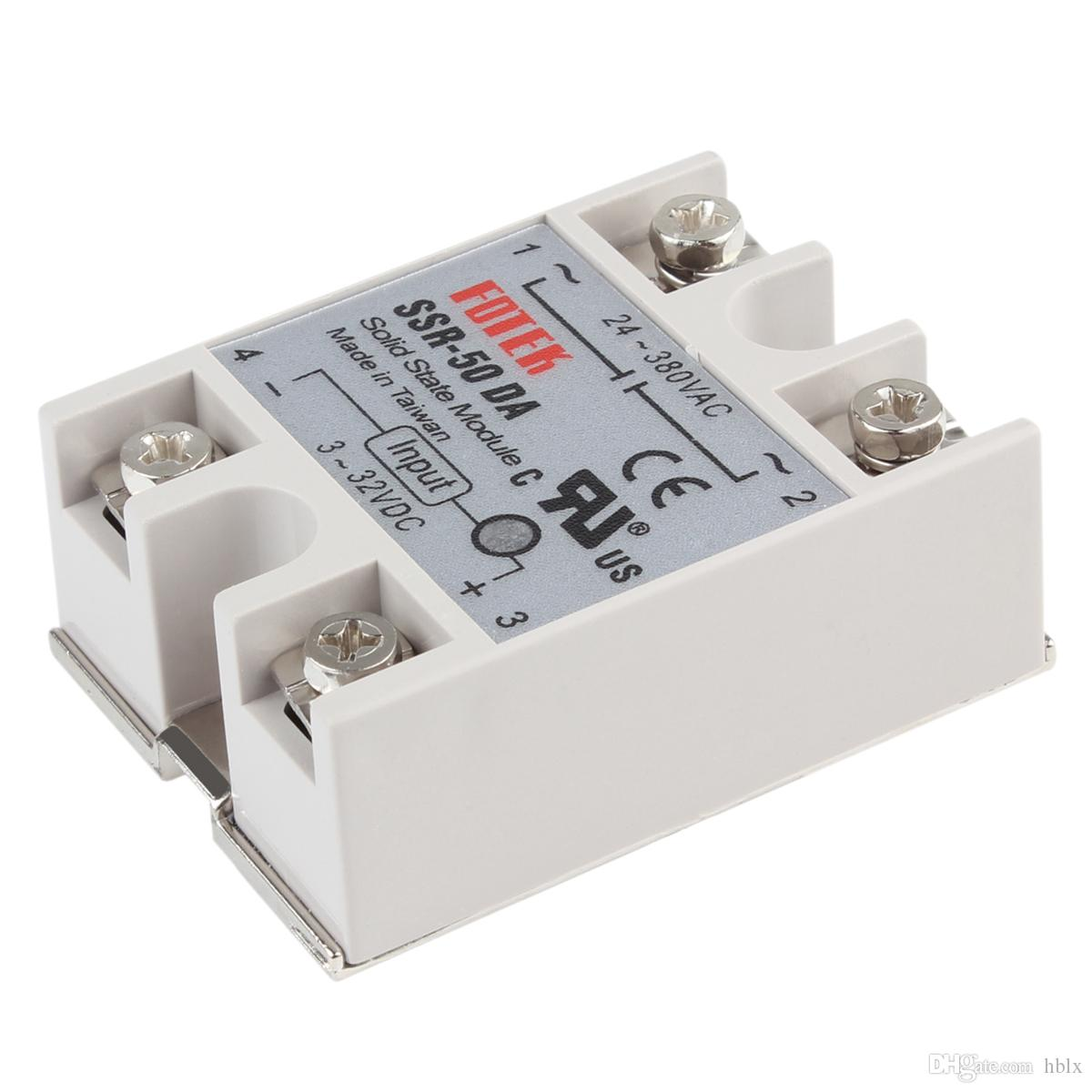Solid State Relay Dc 12v Headlight Wiring Diagrams Amazon New Auto Ssr 50da 3 32vdc Input 50a 250v Output 24 Rh Dhgate