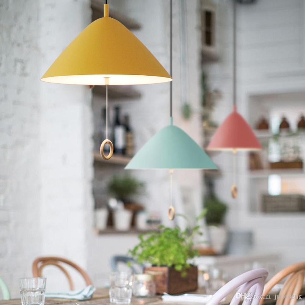 Macarons Pendant Lamp with Pull Switch Modern Europe Style Hanging ...