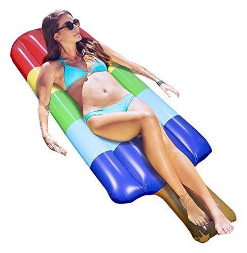 140 * 65 CM Şişme Popsicle Ices Şamandıra Dondurma Yüzer Satır PVC Şişme Şamandıra Raft Eğlenceli Su Oyuncak Parti Tatil Süslemeleri