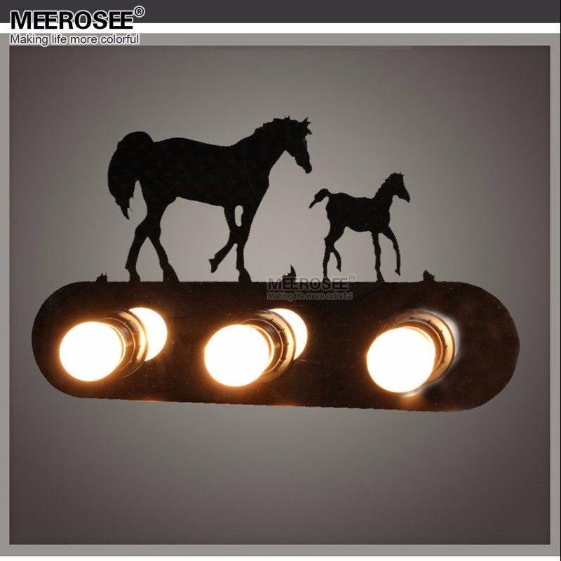 Großhandel Kreative Metall Wand Leuchte Schlafzimmer Pferd Lampe ...