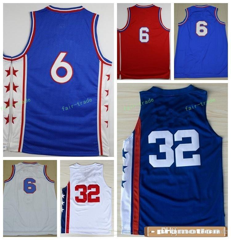 308ca3c3089 ... 2017 Hot 6 Dr J Julius Erving Jersey Men Sale Throwback 32 Julius Erving  Basketball Jerseys Julius Erving Nets ...