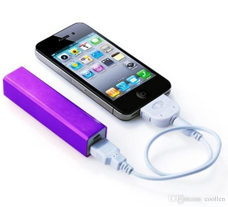 High Quality! HOT Cheap Power Bank Portable 2600mAh Cylinder PowerBank External Backup Battery Charger Emergency GIFT