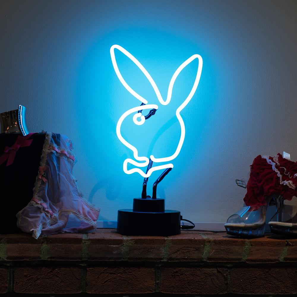 2019 Playboy Mancave Fun Bunny Head White Neon Sculpture Neon