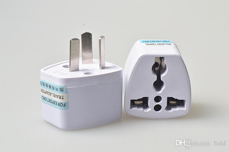 Adaptador Universal de Viagem UE EUA AU para REINO UNIDO Adaptador Conversor de Viagem Plug Power Adapter Carregador 250 V 10A Conversor Tomada Branco hot DHL