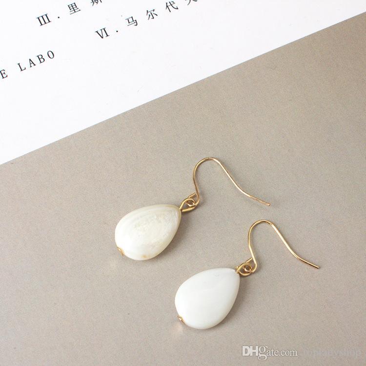 Ornamentos de mão retro pérola contas transparentes anel de ouro brincos brincos coreano brincos temperamento simples