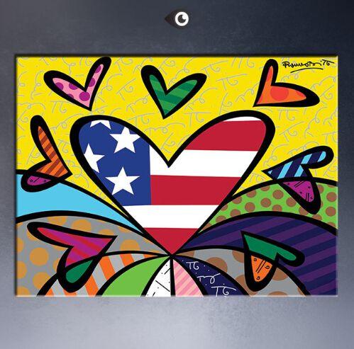 Кит Харинг оригинальный поп-арт ЖИКЛИ плакат краска на холсте