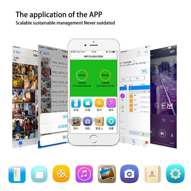 Hochwertige U-Festplatte i-Flash-Gerät HD-Speicher OTG USB-Flash-Laufwerk für Android IOS