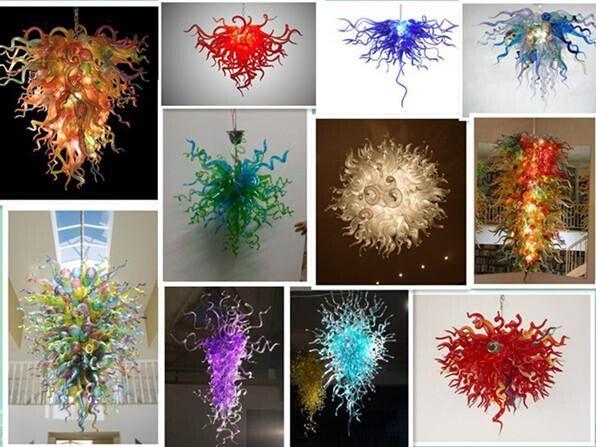 Moderne mundgeblasene Glaskunst Kronleuchter für Coffee Shop Kleine Bernstein Murano Glas LED Kronleuchter Anhänger Dekorative Kunst Glas Beleuchtung