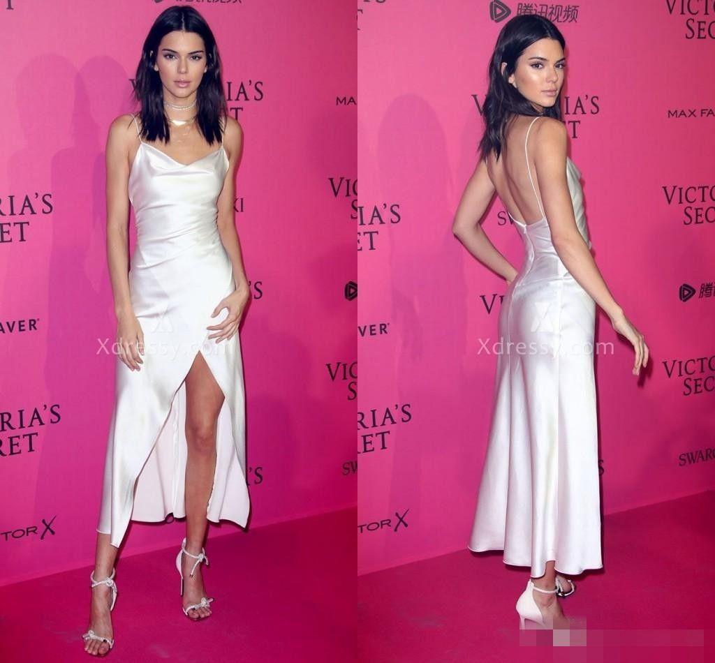 Compre Sexy Kendall Jenner Celebrity Vestidos De Fiesta De Noche ...