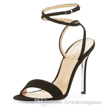 es Mezclados Hebilla Sandalias de Gladiador Con Tirantes Zapatos de Verano de Las Mujeres Tacones de aguja Tacones Altos Bombas de Boda zapatos