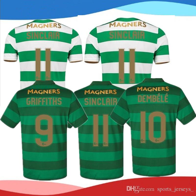 4375847e6 ... Scotland league Celtic soccer jerseys AWAY Armstrong GRIFFITHS LUSTIG  SINCLAIR BITTON BROWN 17 best quality 2017 Top That Quality 2017 2018 Celtic  Fc ...