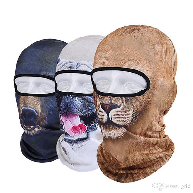 2b200d6f43d 2019 Wholesale Animal Mask 3D Cap Outdoor Sports Bicycle Cycling Motorcycle  Masks Ski Hood Hat Veil UV Full Face Mask From Grid