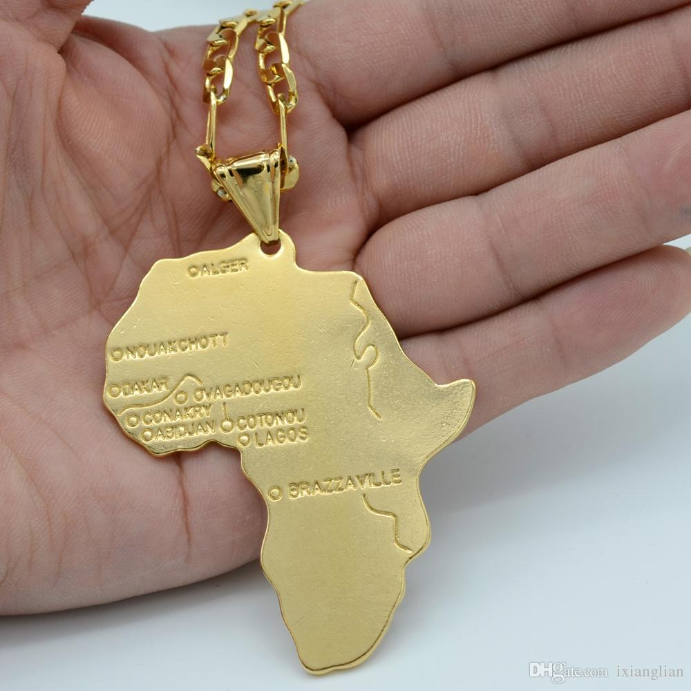 Africa Map Mozambique%0A      Big Map Of Africa Pendant Necklace Chain For Men Jewelry African Map  Hip Hop Necklaces Pendant    cmx   cm From Ixianglian          Dhgate Com