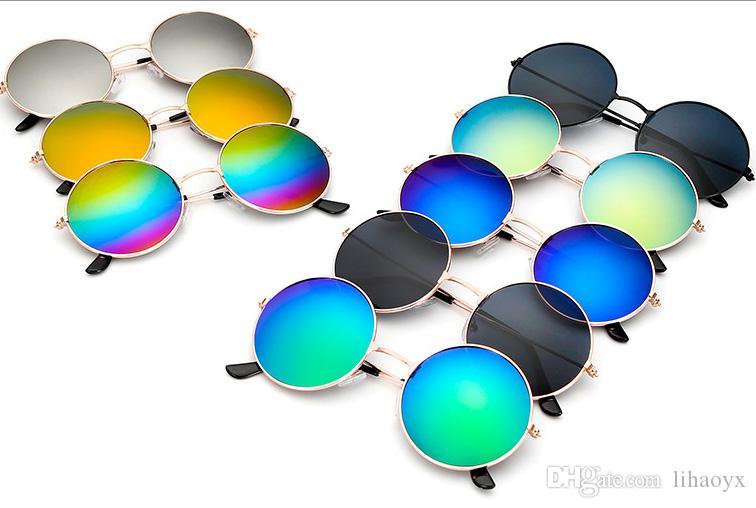 Alta stilista qualità degli occhiali da sole classico retrò piloti specchio specchio occhiali da sole retrò all'aperto rana occhiali da sole D011
