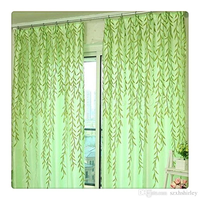 2016 Hot Tulle Catkins Door Balcony Curtain Willow Pattern Voile Sheer Curtains Scarfs Window Screens Valance For Bed Living Room DHL