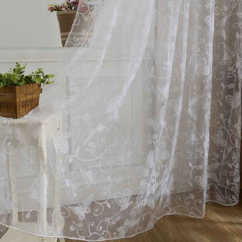 Sheer Curtains Window Curtain Purple Butterfly Burnout Tulle Voile Fabric  Transparent Sheer Living Room Screening Curtains For Living Room Brown  Curtains ...
